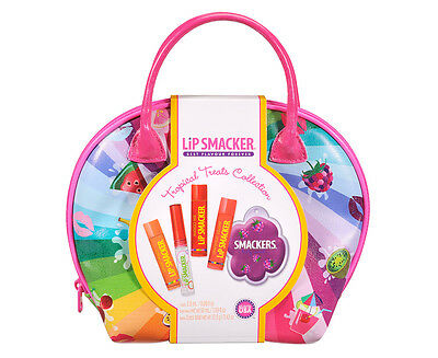 Lip Smacker 5Pc Tropical Treats Cosmetic Bag Collection