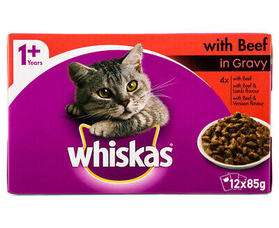 12 x Whiskas Favourites Multipack Beef 85g