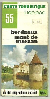 Card Tourist IGN 55 1:100 000 Bordeaux, Mont-de-Marsan