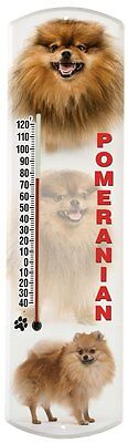Heritage America by MORCO 375POM Pomeranian Outdoor or Indoor Thermometer,