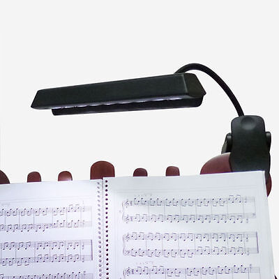 9 LED Flexible Clip Light Orchestra Arm Music Stand Adapter Book Reading Lamp