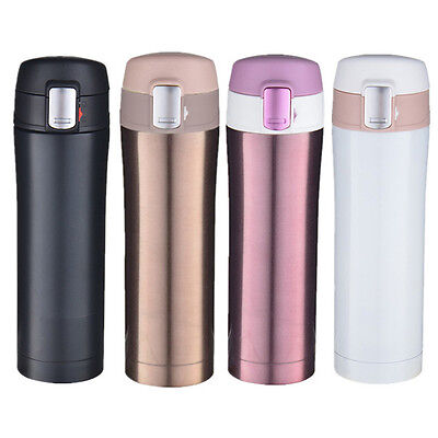 1Pc Stainless Steel Travel Flasks Office Thermos Mug Tea Coffee Water Cup Bottle