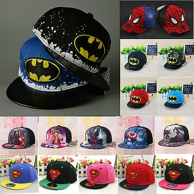 Kids Baby Toddler Batman Hip-Hop Boys Girls Baseball Adjustable Snapback Hat