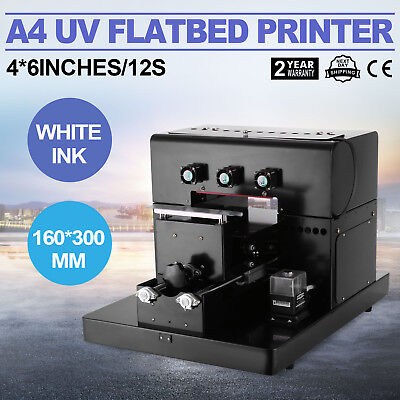 A4 UV Flatbed Printer Inkjet Printing Machine Plastic 4*6inches/12s Leatherware