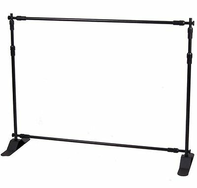 4ft-8ft Width 4ft-8ft Height Adjustable Step Repeat Advertising Banner Stand T