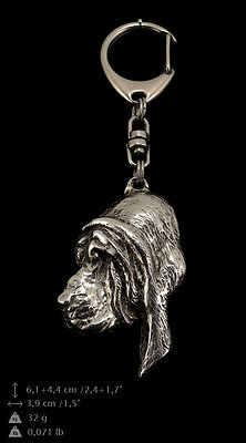 Bloodhound, silver covered keyring, high qauality keychain Art Dog