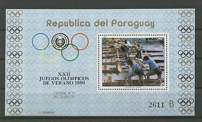 Olympiade, Olympic Games 1980 -  Paraguay - Bl.346 ** MNH