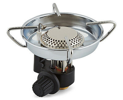 Gasmate Backpacker Stove With Windshield & Piezo Ignition - Silver/Black