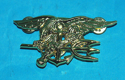 Us Navy Seals Full Size Chest Badge (A Well Earned Badge) B.