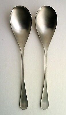 OLD HALL Vintage 'ALVESTON' SERVING SPOONS x 2 '60s Robert Welch Stainless Steel