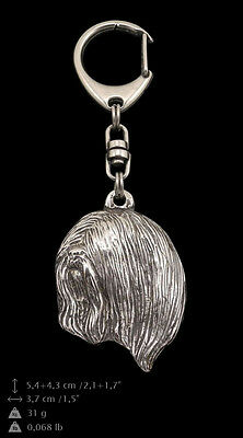 Lhasa Apso, silver covered keyring, high qauality keychain Art Dog
