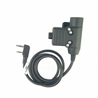Z-Tactical U94 PTT Military Adapter PTT Z113 for Kenwood TYT F8 BAOFENG 5R Radio