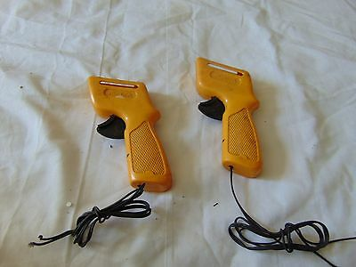 "pair of Vintage Aurora Yellow color Slot Car remote Controls 6"" x 3"" USA"