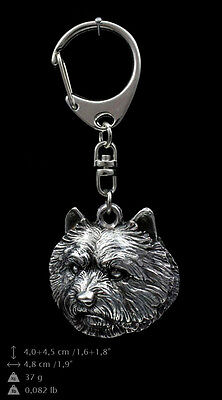 Norwich Terrier, silver covered keyring, high qauality keychain Art Dog