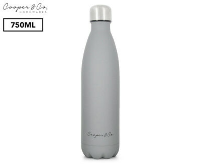 Cooper & Co. Insulated Water Bottle 750mL - Grey/Matte Finish