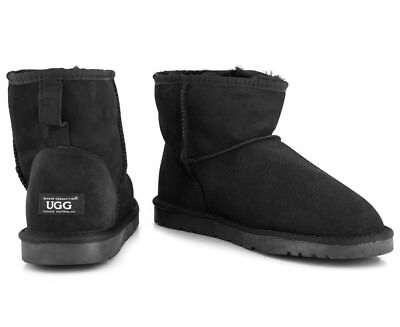OZWEAR Connection Classic Mini Ugg Boot - Black