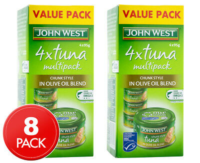 2 x John West Tuna Chunk Style In Olive Oil Blend 4pk