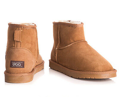 OZWEAR Connection Unisex Classic Mini Ugg Boot - Chestnut