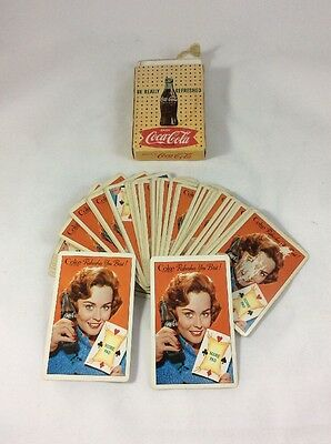 """Playing Cards Vintage 1960s COCA COLA, Complete with Cover """"Refreshes you best!"""""""