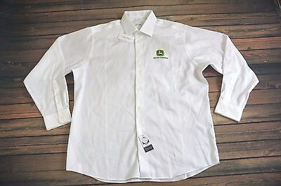 Brand New John Deere (Large) White Calvin Klein Dress Button Shirt  JD