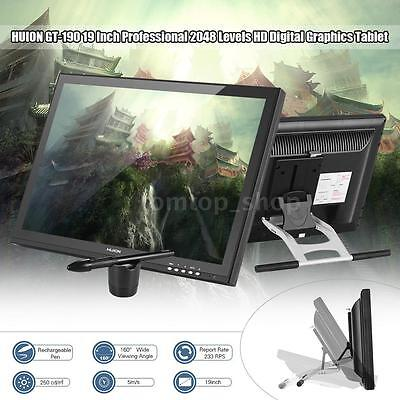 huion 19 professional art drawing tablet monitor tft usb graphics