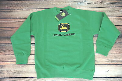 Brand New John Deere Youth (Med)  Sweatshirt Green Tractor JD Farm