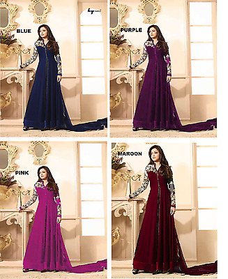 Designer Indian Salwar kameez Bollywood Anarkali Dress Pakistani Fancywear Suit