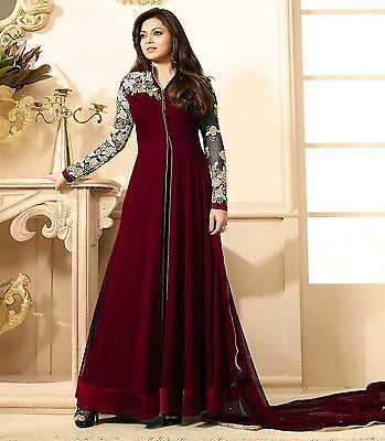 Indian Bollywood Salwar Kameez Anarkali Dress Partywear Pakistani Shalwar Suit S