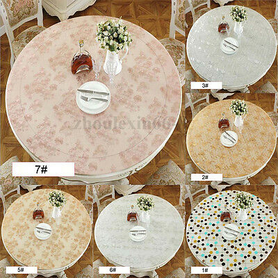 New Round Clear Soft Glass PVC Table Protector Cover Desk Mat Desktop Waterproof