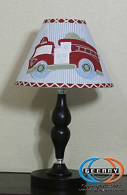 GEENNY Lamp Shade Fire Truck Nursery Baby Boys Boy Decor Kids Play Room New