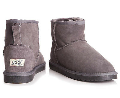 OZWEAR Connection Unisex Classic Mini Ugg Boot - Charcoal