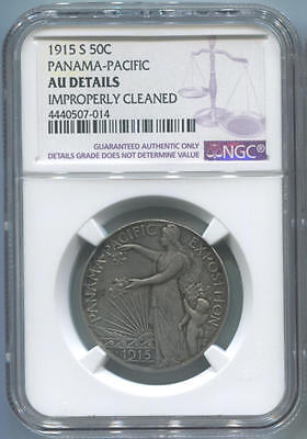 1915 S Pan Pacific Commemorative Half Dollar, NGC AU Details. San Francisco Mint