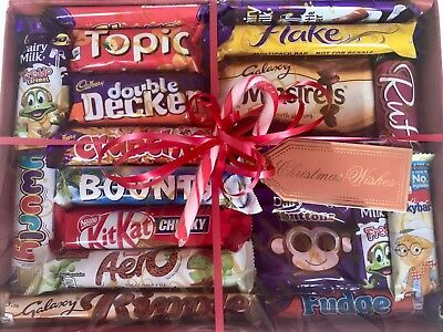 Fathers Day Chocolate Sweets Hamper Cadbury Galaxy Nestle  Box Gift Present