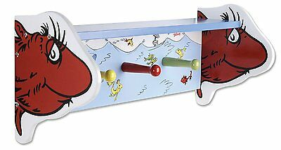 Dr. Seuss Shelf One Fish Two Trend Lab Pegs Wall Decor Nursery Kids Room New