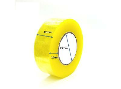 """6 Rolls Clear Packaging Carton Sealing Tape 2.0 Mil Thick 1.26"""" x 160 Yards"""