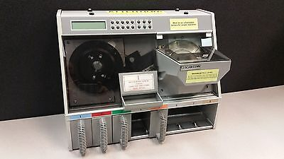 Tested Scan Coin Sc22 Coin Counter Sorter With 4 Coin Trays And Power Cable