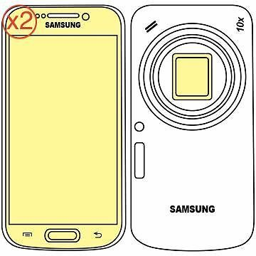 Martin Fields Overlay Plus Screen Protector (Samsung Galaxy K Zoom) Twin Pack -