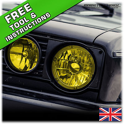 2 x (30 x 60cm) Yellow Headlight Tint film sheets - Euro, JDM, Jap Effect!