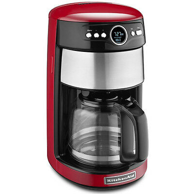 KitchenAid 14 -Cup Glass Carafe Coffee Maker in Empire Red - KCM1402ER