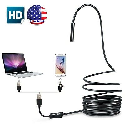 2M Mini Android Endoscope Waterproof Borescope Micro USB Inspection Video Camera