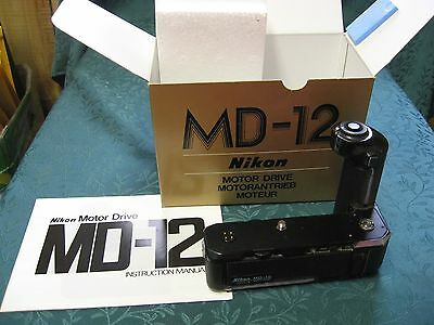 Nikon MD-12 Motor Drive for FM2, FE2 & others in Original Box with Manual