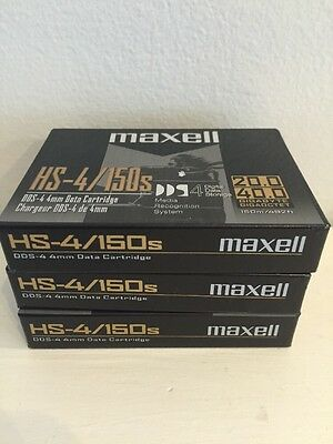 Maxell HS-4/150 Data Cartridge Lot Of 3
