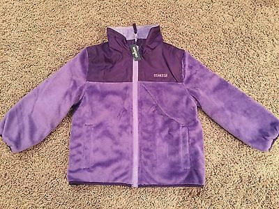 Girls OshKosh B'gosh Reversible Purple Coat Jacket Size 4T. So Cute!