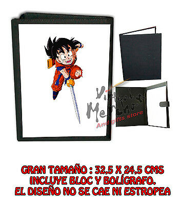 CARPETA SON GOHAN DRAGON BALL Z FANART LONETA NEGRA FOLDER bloc es
