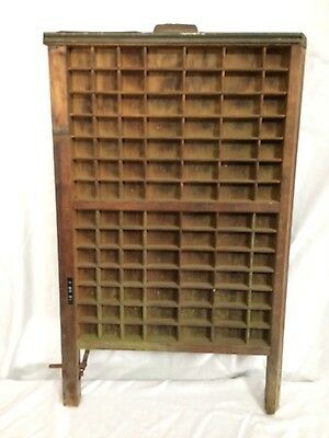 Vintage Printer's Letterpress Type Tray/Drawer Shadow Box Ludlow by Hamilton MFG