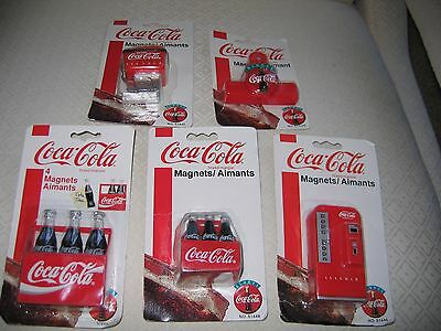 NEW Coca Cola Brand Magnets in Original Packaging (Lot of 5) (PAT-2)