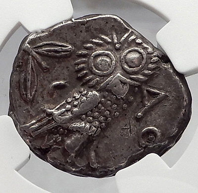 ATHENS Attica Greece Athena Owl Tetradrachm Ancient Silver Greek Coin NGC i59986