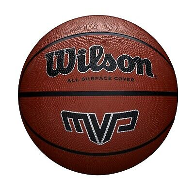 Wilson MVP Basketball (Available in size 5, 6 and 7) - Brown or Purple / Green