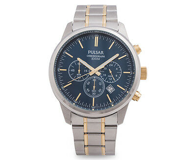 Pulsar Men's Chronograph Watch - Silver/Gold