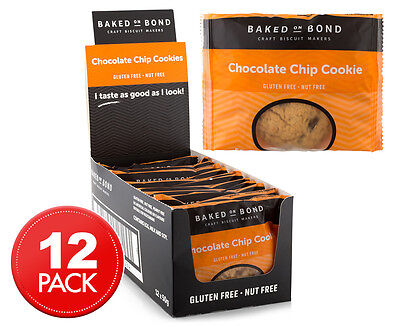 12 x Baked On Bond Cookies Chocolate Chip 50g